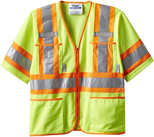 Class Iii Safety Vest - Viking Class 3 Hi-Vis Safety Vest, Green, X-Large
