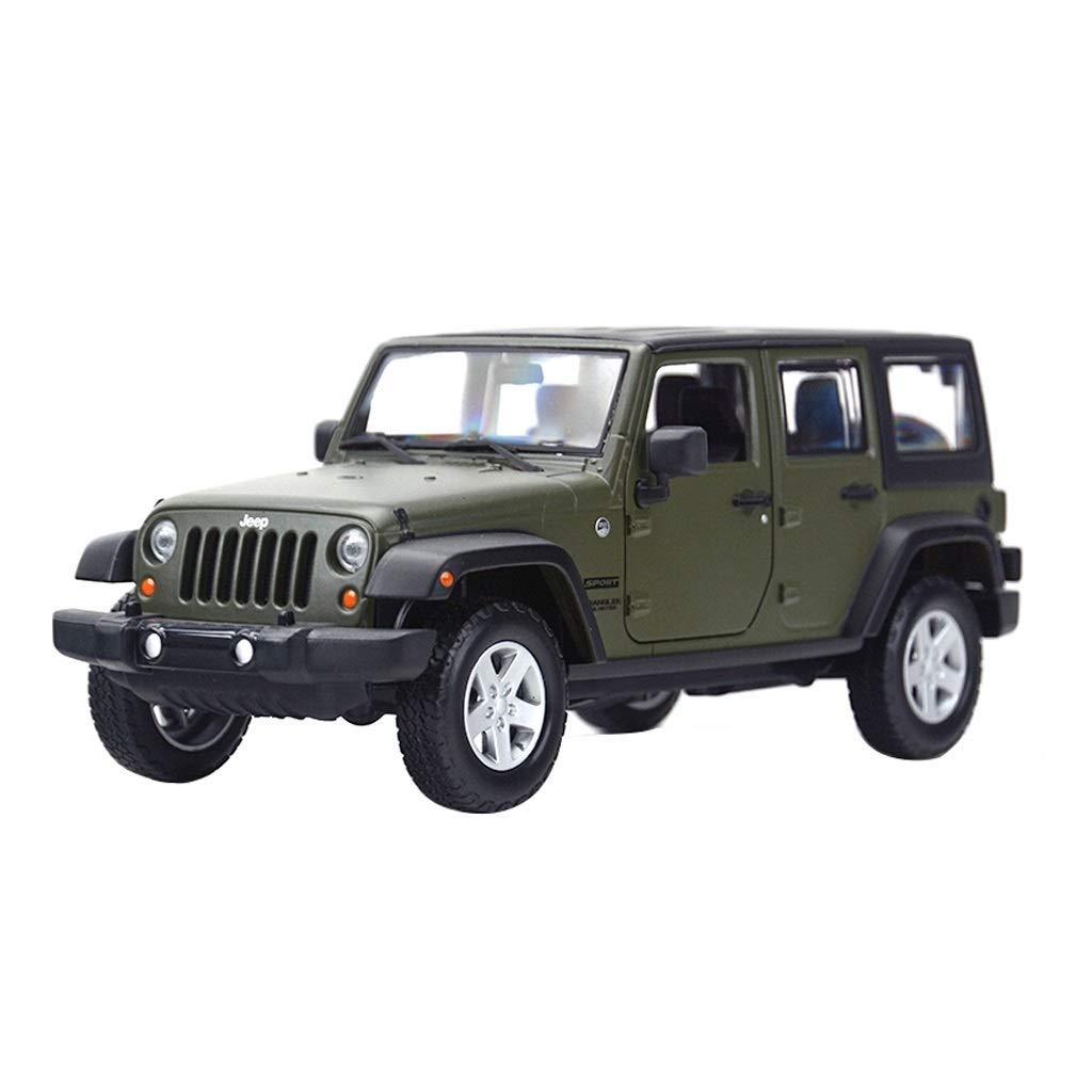 Maisto Modelo de Coche 1 24 Simulación Jeep Wrangler Modelo Exquisito Colección Juguetes Modelo de Aleación de Regalo Adornos Modelos Escala Vehículos ( Color   verde )