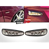 (2) Smoked Lens Amber Led Side markers Turn Signal Light For 08' Mitsubishi Lancer X