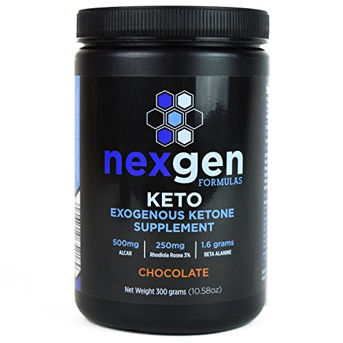 NexGen Keto Exogenous Ketone Supplement Powder & Weight Loss Supplement, Energy Booster, Endurance Builder – Chocolate (300g)