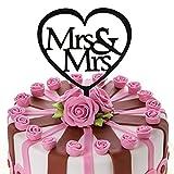 JennyGems Wedding & Anniversary Cake Topper - Gay & Lesbian - Mrs & Mrs - Same Sex LGBT Marriage Union
