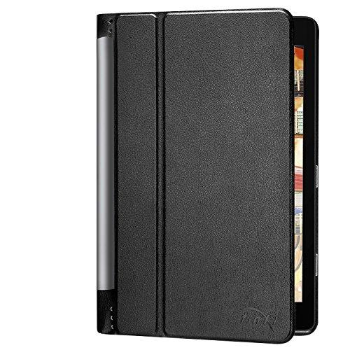 tinxi® Kunstleder Tasche für Lenovo YOGA Tablet 3-10 Pro 10,1 Zoll (25,6 cm) Tablet (32 GB, Android 5.1?Tasche Folio Tablet cover Flip Case mit Standfunktion Schwarz