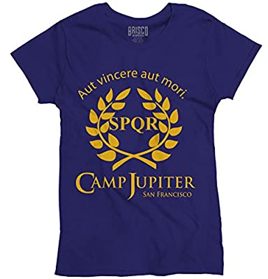 CAMP HALF BLOOD Branches CAMP JUPITER SPQR SciFi Percy Jackson Ladies T-Shirt