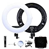 Yidoblo 18 inch LED Ring Light FD-480II Dimmable Super Bright Lighting Kit with Phone Holder, Mirror, Tripod Stand and Carrying Case for Makeup, YouTube Vine Videos, Filming, Selfie, Portrait, Photos