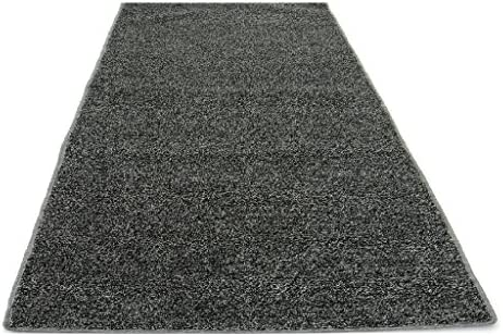 Koeckritz Rugs 12 x16 Standard Sizes – Gray Black – Economy Turf Artificial Grass Light Weight Outdoor Rug – Easy Maintenance – Just Hose Off Dry – 8 Colors to Choose from