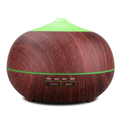 Tenswall Aromatherapy Essential Oil, Ultrasonic Diffusers Aroma Cool Mist Humidifier for Office Home Bedroom Living Room Study Yoga Spa-Large