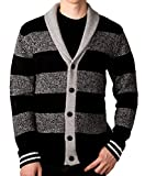 Unionbay Men's Shawl Cardigan Sweater, Black, Size Medium