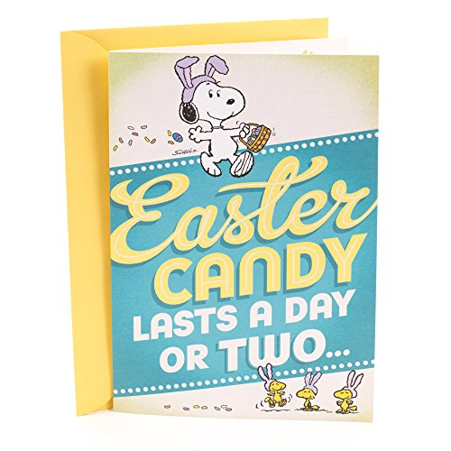 Hallmark Peanuts Easter Card for Kids (Snoopy and Woodstock Easter Hugs)