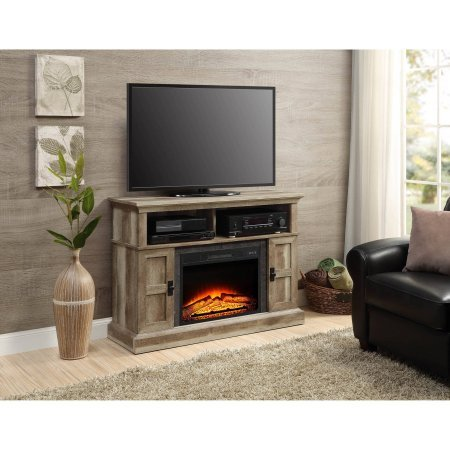 Whalen Media Fireplace Console for Flat Panel TVs up to 55 Weathered