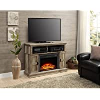 Whalen Media Fireplace Console for Flat Panel TVs up to 55 (Weathered)