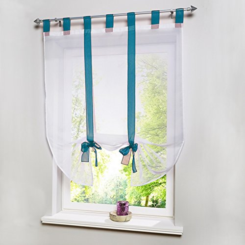 Hoomall Curtains Bow Knot Transmission W100 H140cm