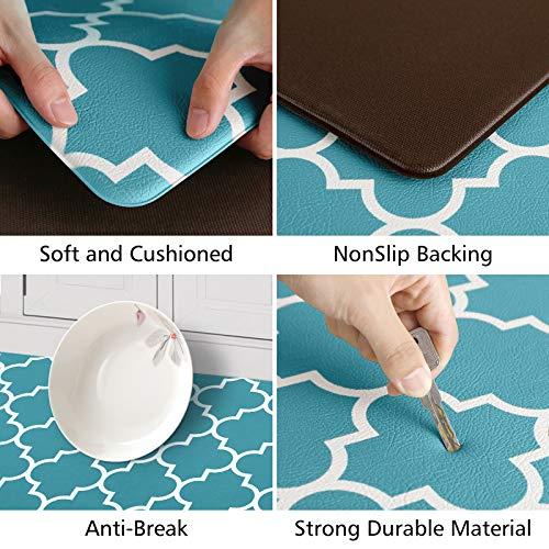 2 PCS KMAT Kitchen Mat Waterproof Non-Slip Cushioned Anti-Fatigue Kitchen Rug