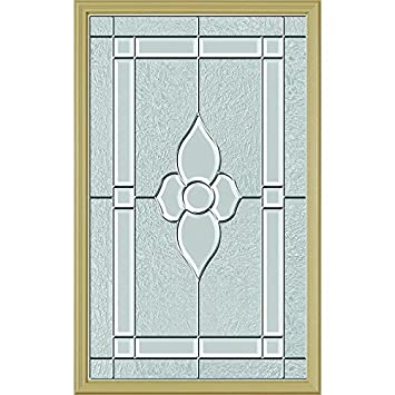 Odl Nouveau Door Glass 24 X 38 Frame Kit Nickel Caming