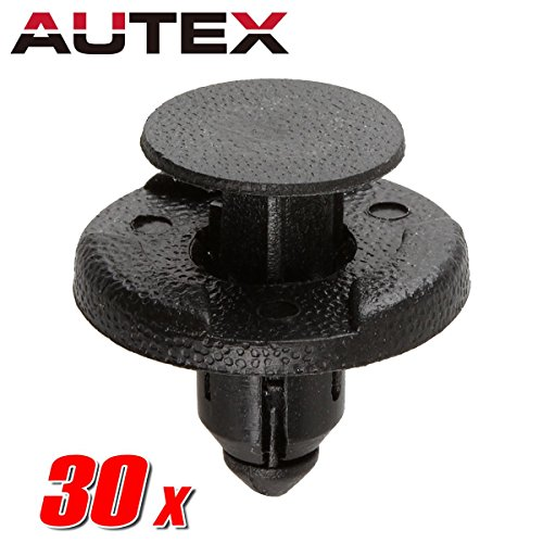 PartsSquare 30pcs Fender Liner Fastener Rivet Push Clips Retainer Replacement For Infiniti QX50 Q40 Q50 QX70 Q70 QX60 QX80 QX56 Q60 Replacement For Nissan Cube Frontier Rogue Murano Quest NV3500