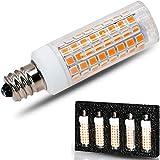[5-Pack] E12 Led Bulb Candelabra Light Bulbs 8W, 100W (850LM) Equivalent Ceiling Fan Bulbs, Warm White 3000K, Dimmable, LED Chandelier Light Bulbs.