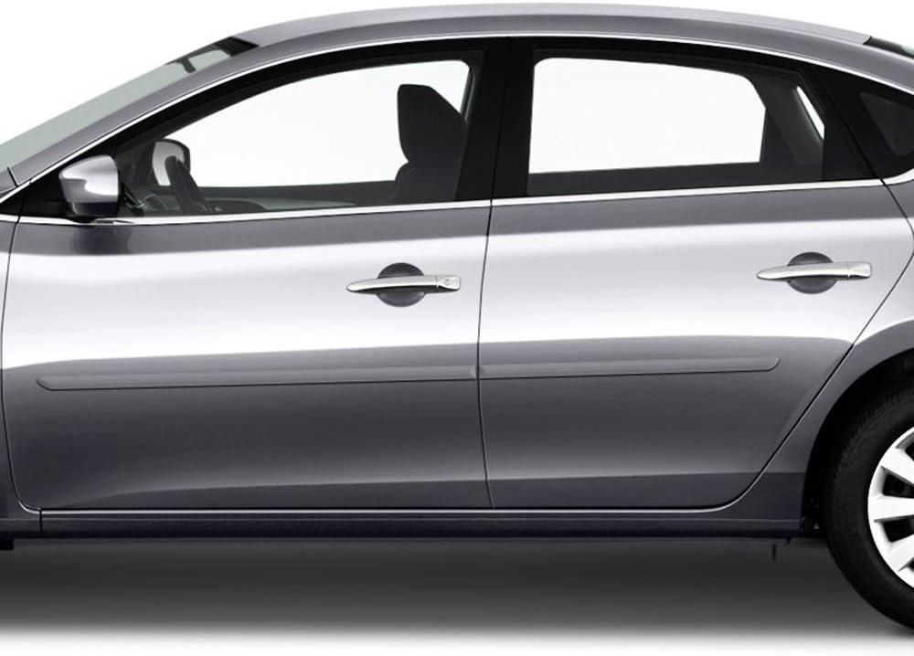KAD Gunmetal Metallic Dawn Enterprises FE-SENTRA13 Finished End Body Side Molding Compatible with Nissan Sentra