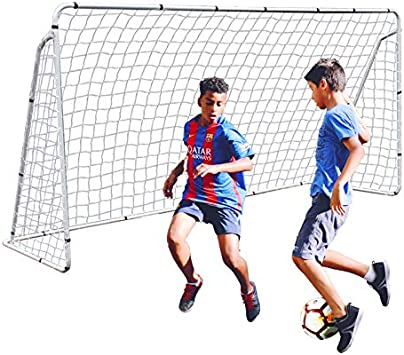 2Pack Portable Youth Size Steel Frame Soccer Goal Football w//Durable Net  6x4 FT
