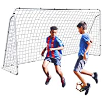 F2C 12 x 6 FT Portable Soccer Goal Post with Net for Kids, Heavy Duty Steel Framed Football Shooting Training Aid with…