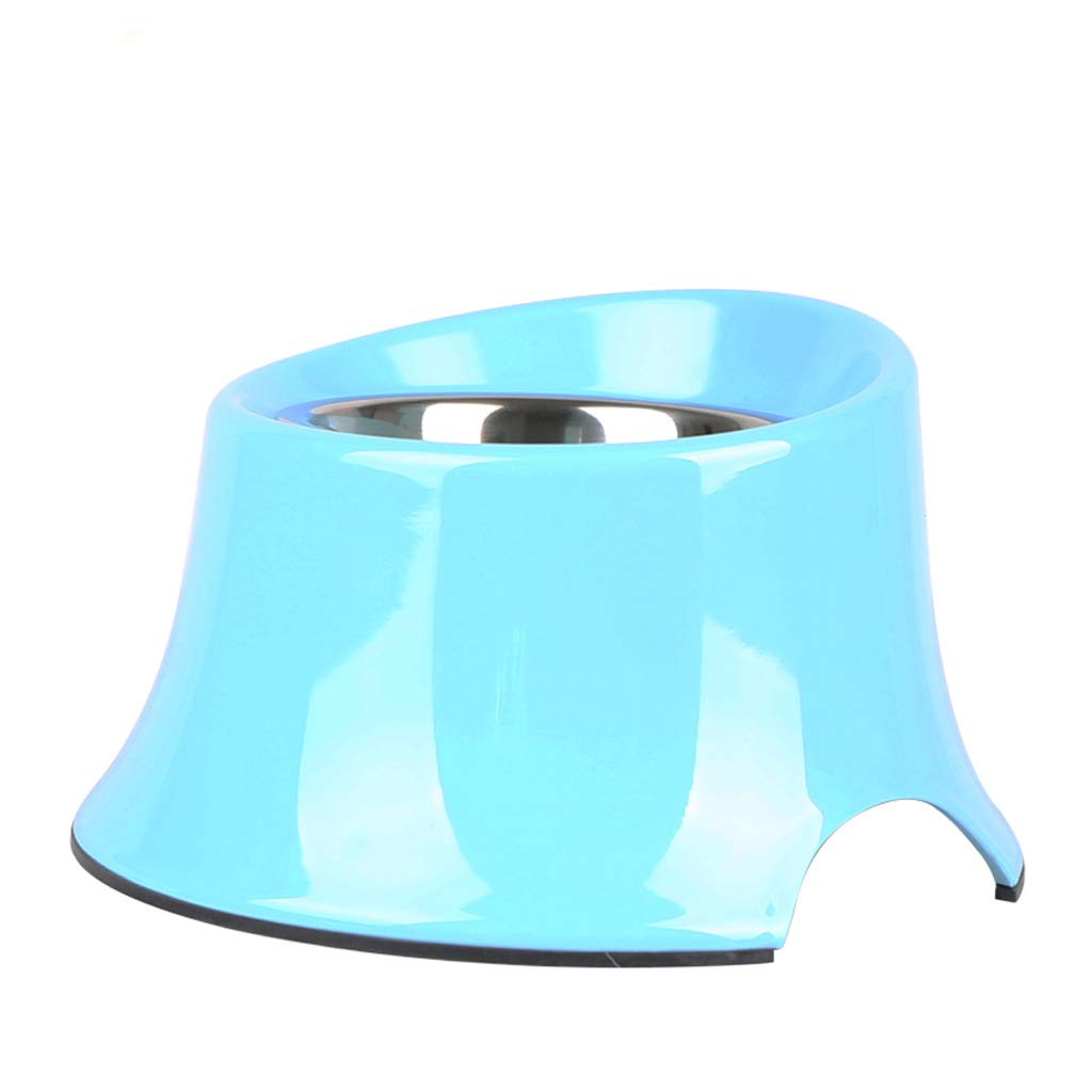 A Small A Small TY-Pet feeder Dog food bowl dog pot stainless steel dog bowl single bowl double bowl cat pot (color   A, Size   S)