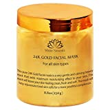 24K Gold Facial Mask By White Naturals: Rejuvenating Anti-Aging Face Mask For Flawless Skin –Reduces Fine Lines, Clears Acne, Minimizes Pores, Moisturizes And Firms Up Your Facial Skin 8.8 oz