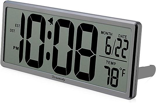 Amazon.com: DreamSky - Reloj digital de 13 pulgadas con ...