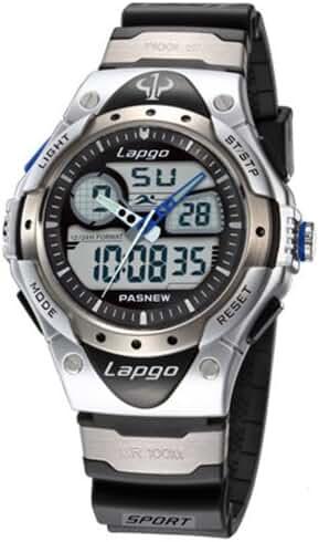 UNIQU Highquality Pasnew Water-proof Dual Time Boys Girls Sport Watch Wrist Watch N1