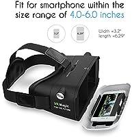 Levin 3D Gafas Realidad Virtual Caja,VR Box con Ajustable Lente y ...