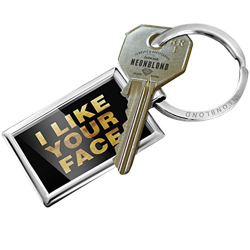 Keychain I Like Your Face Valentine's Day Gold - NEONBLOND