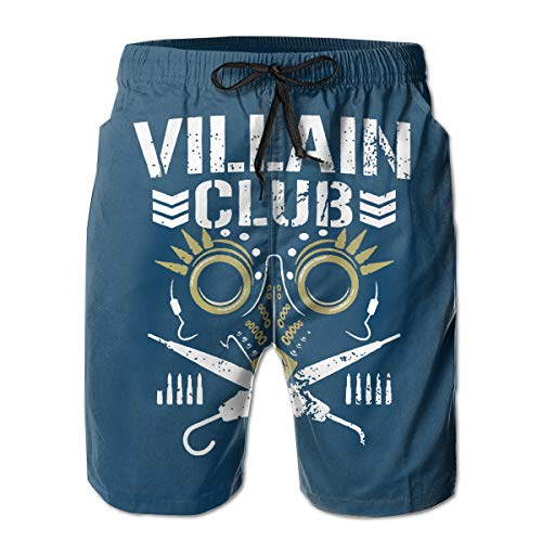 Custom Art Mens Swim Trunks Quick Dry Beach Wear Shorts Mesh Lining Swimwear Bathing Suits - Villain Club -
