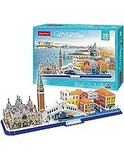 World Brands Venetië, puzzel voor volwassenen en kinderen, modelbouw, 3D-puzzel, grappige geschenken, cultuur, reizen uit huis (MC269h)