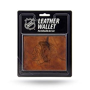 NHL mens NHL Embossed Leather Billfold Wallet