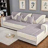 Royhom Corduroy Sofa Protector Sofa Slipcover Keeps Furniture Safe from Kids Dogs Pets | Backrest and Armrest Sold Separately | Grey 43'' x 94''