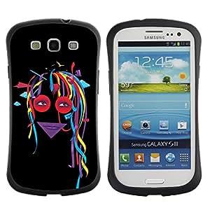 Suave TPU GEL Carcasa Funda Silicona Blando Estuche Caso de protección (para) Samsung Galaxy S3 I9300 / CECELL Phone case / / Abstract Colorful Dread Girl /