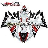 Sportfairings Full Injection ABS Plastic Red Black Matte ...