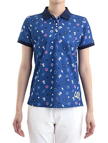 MU SPORTS(エム ユースポーツ) 2016ss レディスウェア L半袖シャツ ネイビー XLサイズ 701U2006   B01AWDOM6W