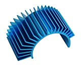 Blue Aluminum Electric Motor Heat Sink for Cooling 540 / 550 Motors - Apex RC Products #8040