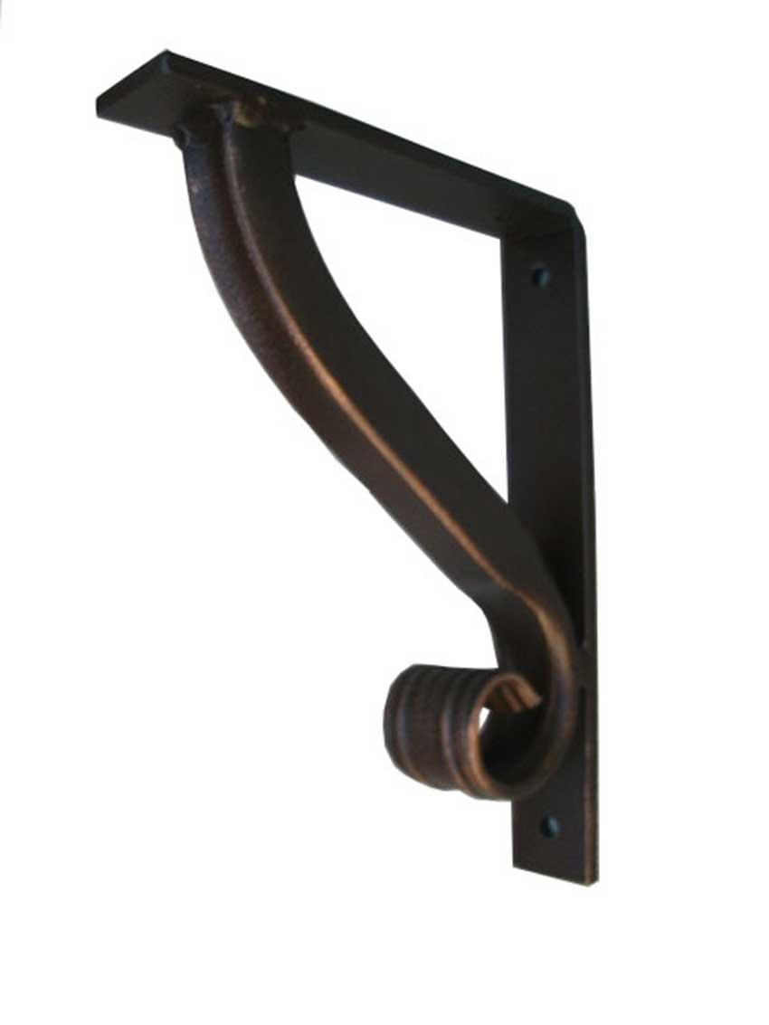 Shoreline Metal Iron Angle Bracket-Shelf, Mantel, Counter Tops-Standard 7 1/2'' Size- Shelving-Wrought Iron Corbel Support/Handcrafted-Hand Finished-Blue/Green Iron Patina