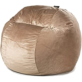 Amazon CordaRoys Chenille Bean Bag Chair Charcoal Queen