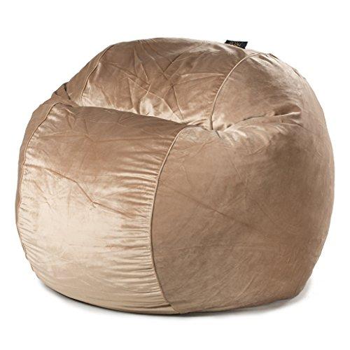POSH - Mink Velvet - Large Bean Bag Chair - Velvet Bean Bag