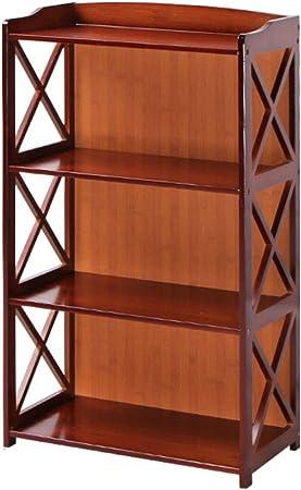 HM&DX Rétro Bibliothèque Armoires Bambou Creuse Étagère ...