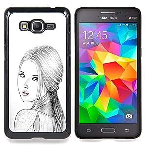 For Samsung Galaxy Grand Prime SM-G530F G530FZ G530Y G530H G530FZ/DS , Mujer Rusa Moda Señora Lápiz - Diseño Patrón Teléfono Caso Cubierta Case Bumper Duro Protección Case Cover Funda