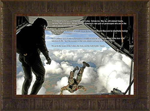 Paratrooper's Prayer By Todd Thunstedt 17.5x23.5 Sky Dive Diving Parachute Jumping Jumper Patriotic Soldier Military War Constitution Department of Washington Lincoln Reagan VFW Legion Bald Eagle Helicopter General West Point Sailor Airman Corps Fleet Submarine Parachute Police Policeman Humvee Armored Seal Ranger Battleship Destroyer Pentagon National Guard Special Op Academy Top Gun Base Fort Hood Bragg Campbell Benning Camp Pendleton Eglin AFB Naval Annapolis Warfare F22 Raptor...
