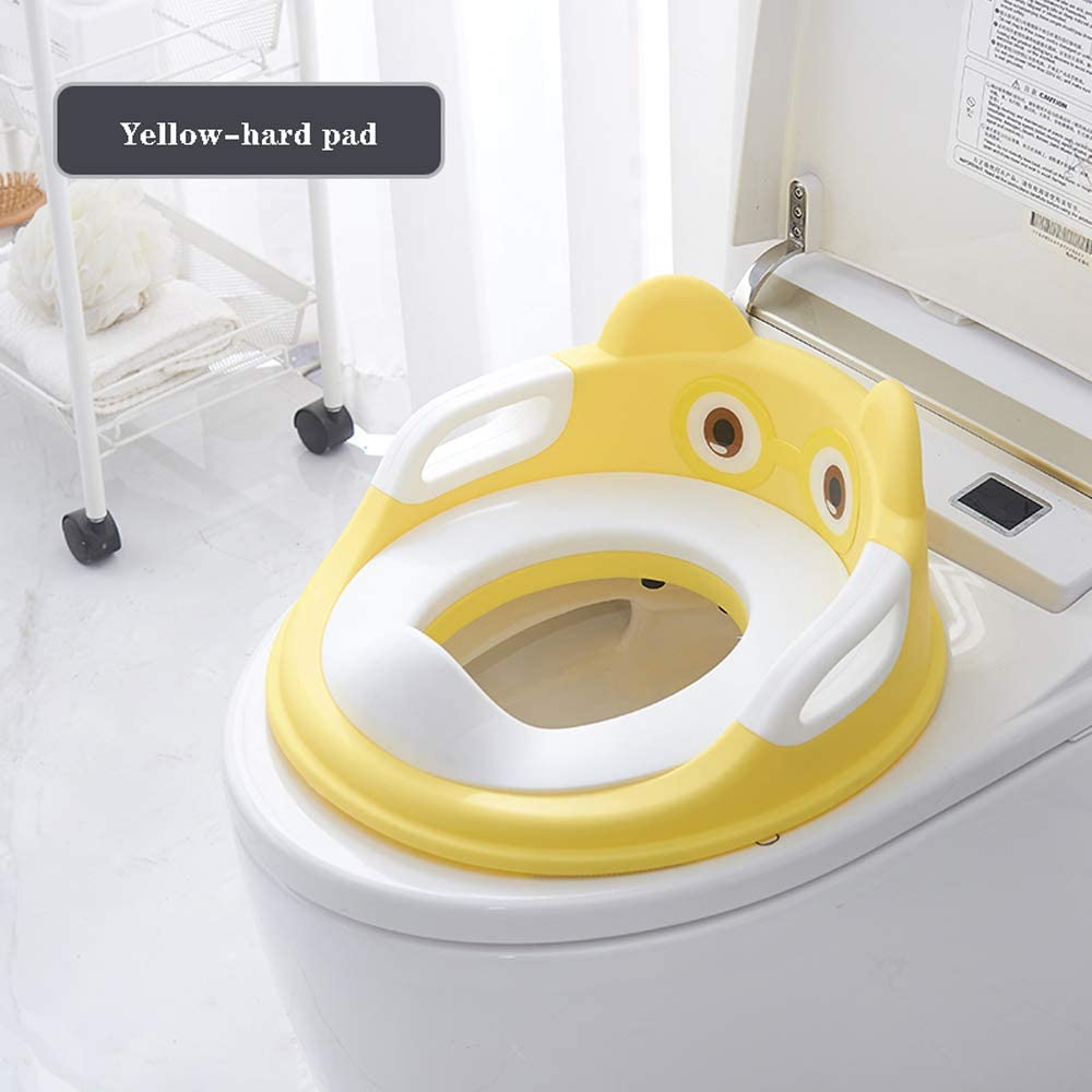 Leisial Port/átil Asiento de Inodoro para Ni/ños Patr/ón de Dibujos Animados Reductor de WC con Reposabrazos para Beb/é para Viajes