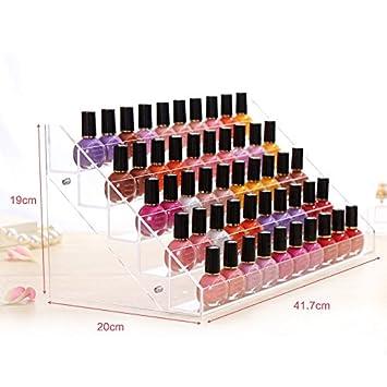 ShiningLove Acrylic Nail Polish Show Shelf Display Case Nail Salon Storage  Case C60