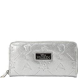 Loungefly Frozen Silver Glitter Embossed Wallet (Silver)