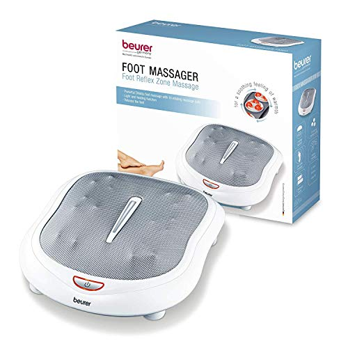 Beurer Shiatsu Foot Massager with 18 Rotating Massage Heads, Plantar Fasciitis and Nerve Pain, Heat Function, FM60