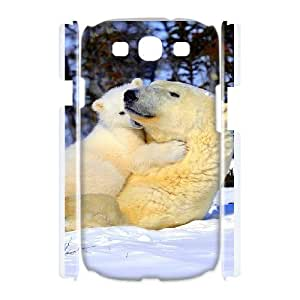 Durable Material Phone Case With Bear Image On The Back For Samsung Galaxy S3