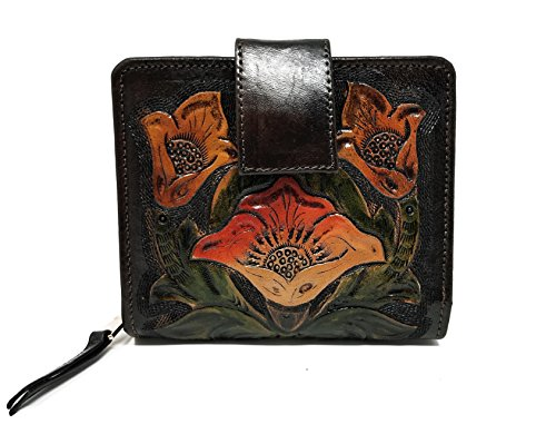 Flower Hand Painted Leather Wallet - 3