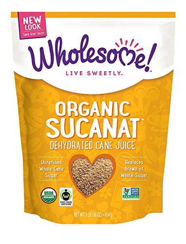 Wholesome Sweeteners Fair Trade Organic Sucanat (Brown Sugar) 16-Ounce Pouche.. 12
