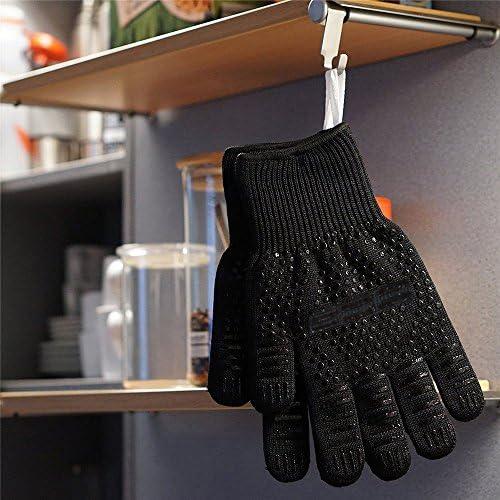 Xiton 1 paire de gants de four r/ésistants /à la chaleur Gants BBQ gant de chemin/ée gants de gant r/ésistants /à la chaleur pour cuisiner et griller